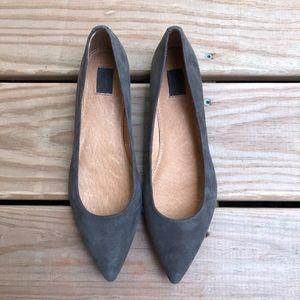 Frye Sienna Suede Pointy Toe Ballet Flats